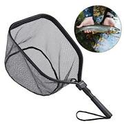 Fly Fishing Landing Net Bass Trout Net Catch And Release Ruber Coating Net