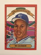 Super Rare Bo Jackson 1990 Donruss 1 Double Front Printing Error   Only One