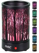 Wax Warmer For Scented Wax With 7 Colors Led Lighting Oil Lamp Black Forest