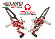 Cnc Racing Pramac Limited Ed. Adjustable Rearsets For Ducati Panigale 959 1299