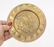 Vintage Solid German Bronze Wall Mounted Plate Gliding Home Decoration 14.5cm