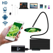 5.5mm Wifi Borescope Endoscope Snake Inspection Camera For Iphone Android Ios Pc