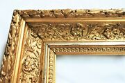 Sm Vintage Fit 7 X 9 Gold Gilt Picture Frame Wood Gesso Ornate Fine Art Country