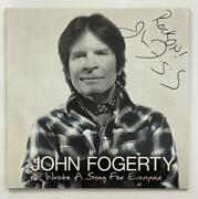 John Fogerty Signed Autograph Album Vinyl Record Wrote A Song For Everyone Rare