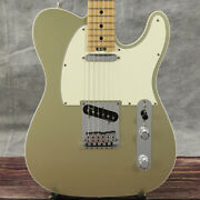 Fender Usa American Elite Telecaster Champagne Gold Ss 2017 Used Electric Guitar