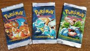 Pokemon Base Set 1st Edition Booster Pack X3 Portuguese Unweighed New Sealed Ccg