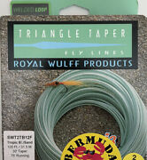 Wulff Bermuda Shorts Triangle Taper Saltwater Fly Line - Tropic Blue/sand- 12f