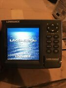 Lowrance Lms-520c 5 Gps Sonar Fish Finder Depth Finder Head Unit With Gimbal