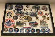 1950-90and039s Ny Football Giants Ultimate Collection - Pins Buttons Coins Patches