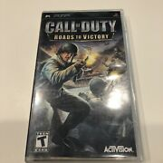 Call Of Duty Roads To Victory Sony Psp 2007 Complete Cib