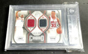 2009 Sp Game Used Combo Material Lebron James X Pippen /499 Bgs 9 Strong Subs