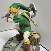 Rare First 4 Figures Zelda Ocarina Of Time Adult Link Green F4f Statue Read