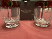 2 Pcs Setwaterford Crystal Simply Red Whiskey Glasses With Box.