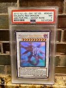 Yugioh 1st Edition Majestic Red Dragon Abpf-en040 Ghost Rare Psa 7 Nm