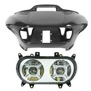 Headlight Fairings And Dual Led Headlight Lamp Fit For Harley Road Glide 2015-2021