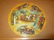 Antique Fire Engines Circular Jigsaw Puzzle Springbok, 500+ Pieces Complete 1971