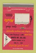 Matchbook Cover - White Mountain Oil North Conway Nh Maytag Girlie 40 Strike