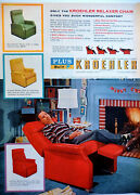 Kroehler Furniture Ad Vintage 1956 Red Chair Christmas Gift Advertisement