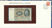 Banknotes Of All Nations Denmark 20 Kroner P-49a.2 1972 1979 Unc A2793h