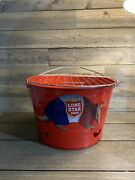 New Lone Star Beer Bucket Grill Double Sided