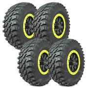 28 Maxxis Rampage Tires 14 System3 Sb4 6+1 Wheels Lime Rzr 900 Trail Xc S