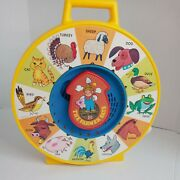Mattel Vintage 1984 See N Say The Farmer Says Yellow Pull Cord Animal Sounds Toy