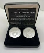 2021 American Silver Eagle Two Coin Collection Type 1 And Type 2 Reverses