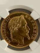 France 1862a 50 Francs Gold Km 804.1 / F.548/1 Ngc Certified Ms 61