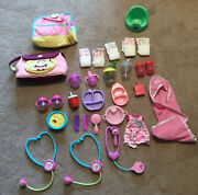 Hasbro Baby Alive Doll Carrier Potty Bowl Brush Diaper Bag Accessories Lot