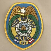 New Britain Police Dept Shoulder Patch - Connecticut - Yellow Border