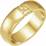 18k Yellow Gold 6 Mm Nugget Band