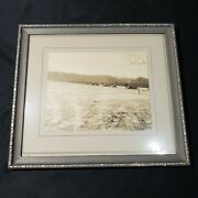 Antique Landscape Photo Of Natural Disaster Flood March 14th 1920 Sunbury Pa