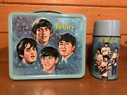 Vintage 1965 Beatles Lunch Box And Thermos Lunchbox