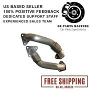 Ppe 116120000 Oem Length Replacement Up-pipes For 2001-15 Chevy Gmc 6.6l Duramax