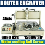 1.5kw Vfd 4axis Usb 6090 Cnc Router Engraver Drill/mill Diy Cutting Machine Usa
