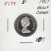 F174 Canada 5 Cents 5c Coin 1981 Proof Frosted Cameo Design Charlton 10.00