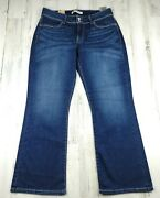 Levi's 529 Curvy Boot Cut Women Mid Rise Jeans Size 14s Nwt