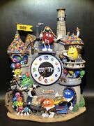M And M Danbury Mint Collector Clock Chocolate Factory Excellent Condition Working