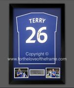 John Terry Hand Signed Chelsea Fc T-shirt Jersey Football Soccer Display And Coa