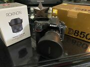 Nikon D850 Camera With Rokinon 14mm Lense. Used Once Total Of 50 Or Less