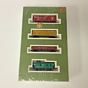 Vintage New Sealed Vintage N Scale Train Cars Caboose Cargo Box Freight