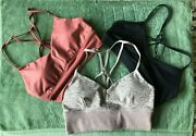 Alo Yoga Sports Bras- Lot Of 3 All In Size Small. Barely Worn, No Tags.