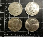 Lot Of 4 Eisenhower One Dollar Coins 1971 - 1972 - 1974 - 1976