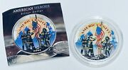 2001 1 American Silver Eagle 1oz Fine Silver Colorized-remember Our Heroes 9-11