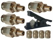 4 - 1/2 Schrader Inflation Fill Valves And Fast Hose Cut Tool Air Ride Suspension
