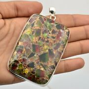 Copper Turquoise Gemstone Pendant Handmade 925 Sterling Silver Jewelry Kb15514