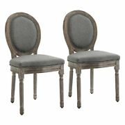 Set Of 2 Accent Dining Chair French Chic Curved Backrest Dining Room Furniture
