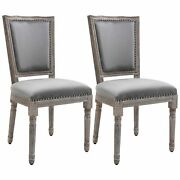 Set Of 2 Dining Chair With Thick Padded Seat Cushions For Kitchen Dining Room