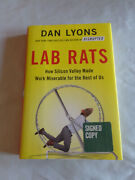 Lab Rats Silicon Valley Made Work Miserable By Dan Lyons Signed 1/1 2018 Hcdj