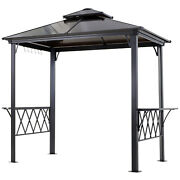 Outdoor Porch Bbq Party Cooking Pergola Grill Canopy Utensils Hooks Storage